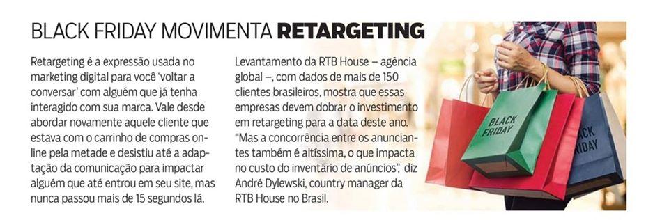 Matéria sobre retargeting na IstoÉ Dinheiro que menciona a RTB House, cliente da BRSA