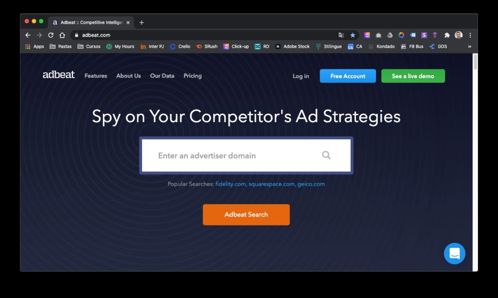 Como fazer análise da concorrência - Análise de anúncios de Rede Display com Adbeat