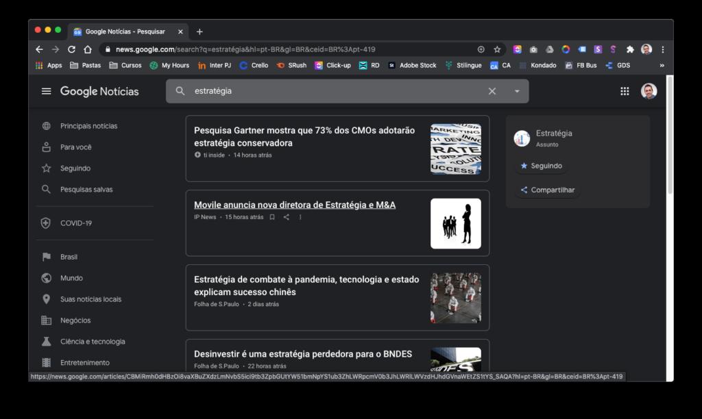Como fazer análise da concorrência - Google Notícias